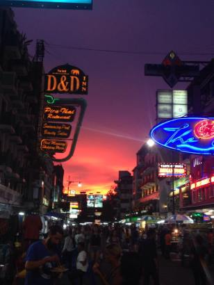 Khao San Rd at Sunset (without a filter... we promise)
