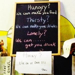 Our favourite bar sign so far...